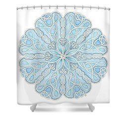 Nautical Mandala Shower Curtain by Stephanie Troxell