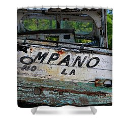 Shower Curtain featuring the photograph Nautical Miles by Lori Mellen-Pagliaro