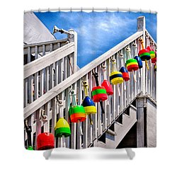 Nautical Stairway Shower Curtain