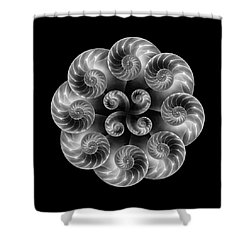 Shower Curtain featuring the photograph Nautilus Abstract Art by Tom Mc Nemar