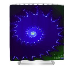 Shower Curtain featuring the digital art Nautilus by Dragica  Micki Fortuna