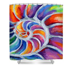 Nautilus Shower Curtain by Stephen Anderson