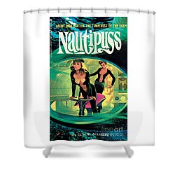 Shower Curtain featuring the painting Nautipuss by Robert Bonfils
