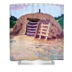 Navajo Hogan Shower Curtain by Suzanne McKay