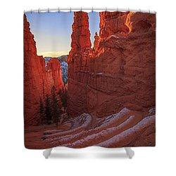 Navajo Loop Shower Curtain by Edgars Erglis