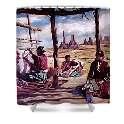 Navajo Weavers Shower Curtain