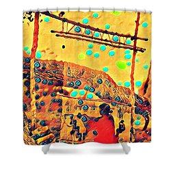 Navajo Woman Weaving 1 Shower Curtain