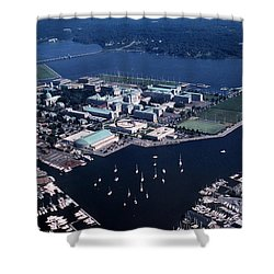 Naval Academy Shower Curtain by Skip Willits