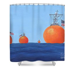 Naval Oranges Shower Curtain