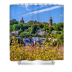 Navesink Light On The Hill Shower Curtain