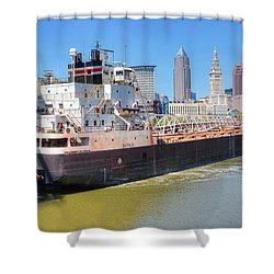 Navigating The Cuyahoga Shower Curtain by Brent Durken