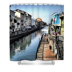 Navigli Milano Shower Curtain