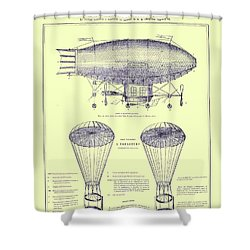 Navire Aerien Shower Curtain