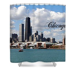 Navy Pier In Chicago Shower Curtain