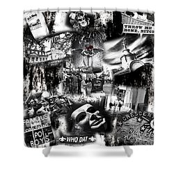 Nawlins Shower Curtain by John Rizzuto