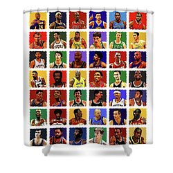 Nba All Times Shower Curtain
