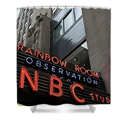 Nbc Studio Rainbow Room Sign Shower Curtain