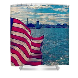 Freedom On The Water Shower Curtain