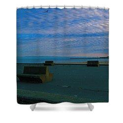 An Empty Shore  Shower Curtain