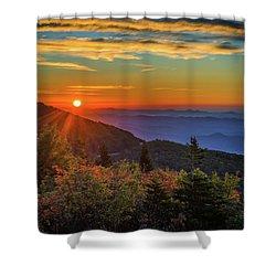 Nc Mountain Sunrise Blue Ridge Mountains Shower Curtain