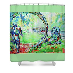 Neandertaler - Neanderman Shower Curtain by Koro Arandia