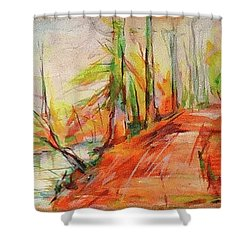 Neanderweg 2 Shower Curtain by Koro Arandia