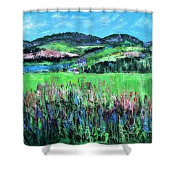Near Cooperstown Shower Curtain by Betty Pieper