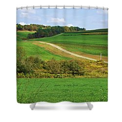 Near Horizons Shower Curtain