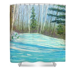 Near Hubbards Shower Curtain by Rae  Smith  PAC