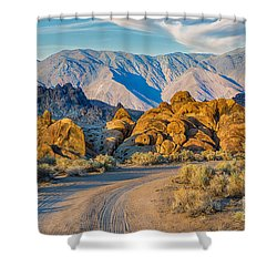 Near Sunset In The Alabama Hills Shower Curtain