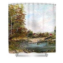 Near The Pond Shower Curtain