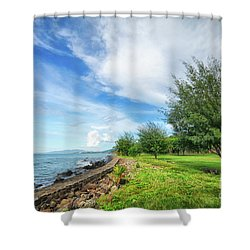 Shower Curtain featuring the photograph Near The Shore by Charuhas Images