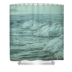 Near Waves Shower Curtain