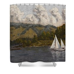 Nearing The Point Shower Curtain