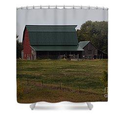 Nebraska Barn Shower Curtain