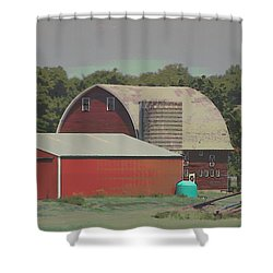 Nebraska Farm Life - The Family Farm Shower Curtain