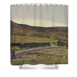 Nebraska Farm Life - The Paddock Shower Curtain