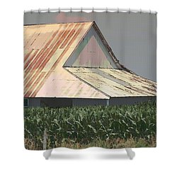 Nebraska Farm Life - The Tin Roof Shower Curtain
