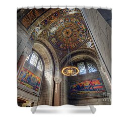 Nebraska State Capitol Shower Curtain by Art Whitton