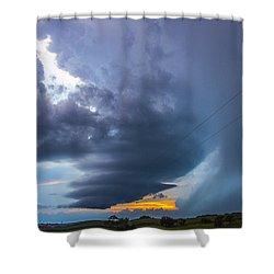 Nebraska Supercell 025 Shower Curtain
