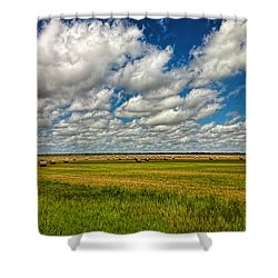 Nebraska Wheat Fields Shower Curtain