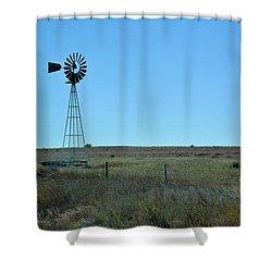 Nebraska Windmill Shower Curtain
