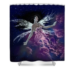 Shower Curtain featuring the painting Nebula by Amyla Silverflame