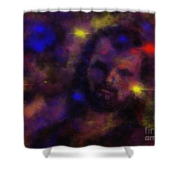 Nebula Rider Shower Curtain