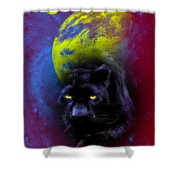 Nebula's Panther Shower Curtain by Swank Photography