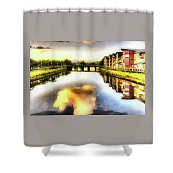 Shower Curtain featuring the photograph Necanium River Seaside by Thom Zehrfeld