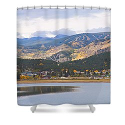 Nederland Colorado Scenic Autumn View Boulder County Shower Curtain by James BO  Insogna