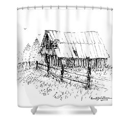 Need A Little Roof Repair Shower Curtain