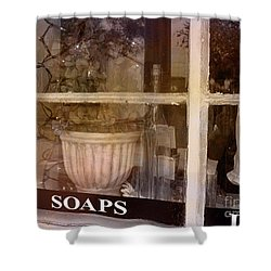 Need Soaps Shower Curtain by Susanne Van Hulst