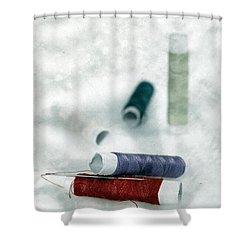 Needle And Thread Shower Curtain by Joana Kruse